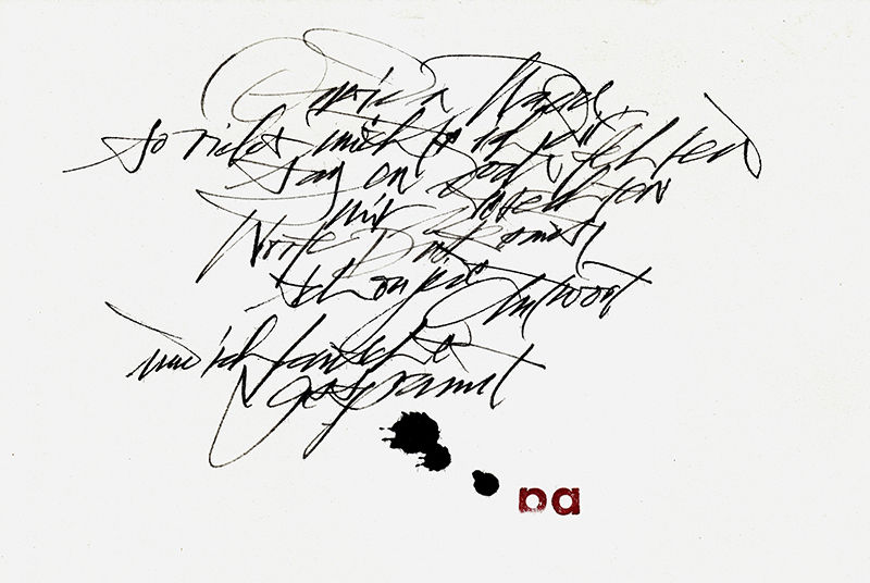 Calligraphy of Sigrid Artmann