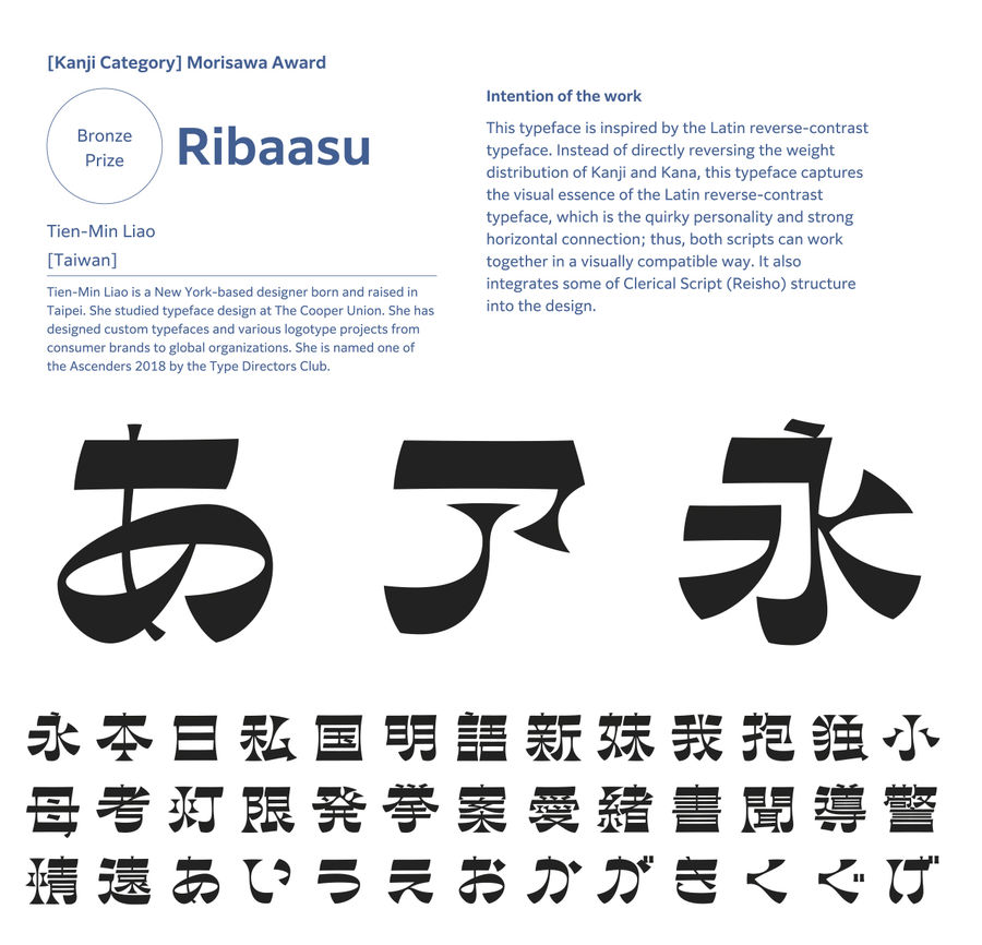​​​​​​​Morisawa Type Design Competition